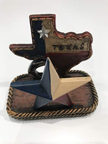 (Colors of Rainbow Texas Map Lone Star Business Cards Holder Rustic Home Office Decor)