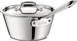 All-Clad 4212.5 Stainless Steel Tri-Ply Bonded Dishwasher Safe Windsor Pan with Lid / Cookware, 2.5-Quart, Silver
