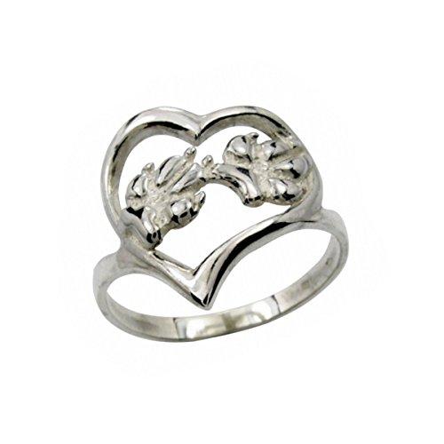 H&H jewellery C?ur - pattes de chien bague d'argent - 57; Bigouterie d'argent - Bague (titre 925/1000)