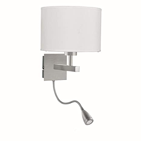 LED Lámpara de pared en acero inoxidable plata Bauhaus 1 x E27 hasta 60 W 230