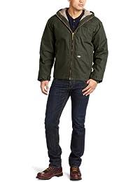 Men's Sanded Duck Sherpa Lined Hooded Jacket