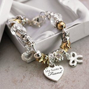 Image Unavailable & My Sister Special Friend Charm Bracelet Jewellery Gift For Her ...