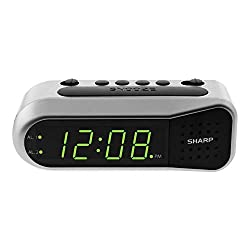 Sharp Digital Alarm Clock - Ascending Alarm Begins Faintly and Grows Increasing Louder, Gentle Wake Up Experience, Dual Alarm - Battery Back-up