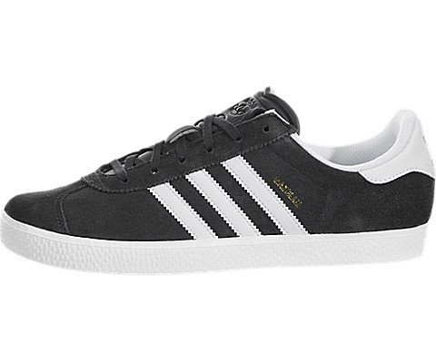 Gazelle 2 Leather (Adidas Youths Gazelle 2 Grey Leather Trainers 4.5)