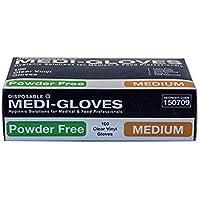 100 Gloves Vinyl Clear Medium Powder Free