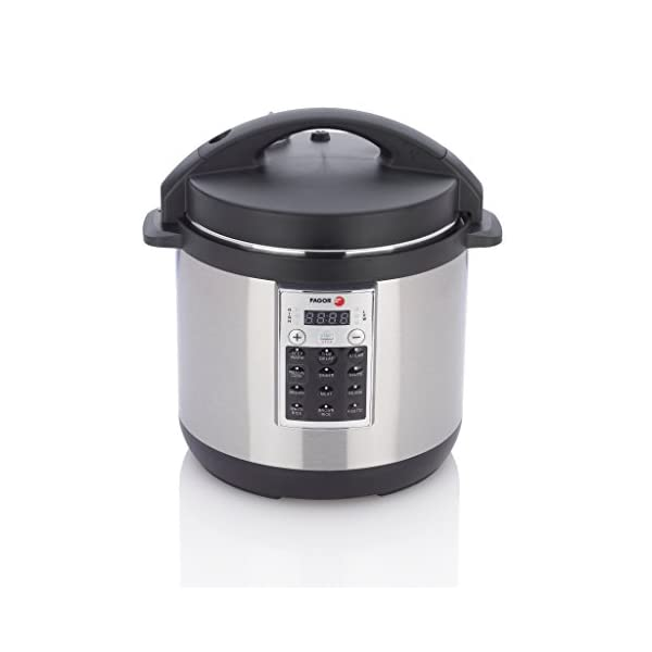 Fagor 670041930 Premium Electric Pressure and Rice Cooker, 6 quart, Silver 1