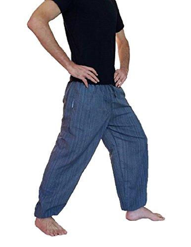 Única Escalada nbsp; Gris Hombre Para Calidad nbsp;pantalones De Harén Boho Talla Hippie Baggy Algodón Amor Pantalones ngTqxAE