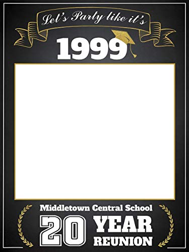(Class Reunion Photo Booth prop, Custom Graduation Reunion, Size 24x36, 48x36; Personalized College University Reunion Photo Frame, Class of 2019, Selfie frame Handmade Party Supply, Reunion Decoration)