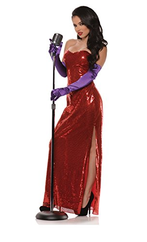 Underwraps Women's Sexy Bombshell Costume Sequin Dress, Red, Medium]()