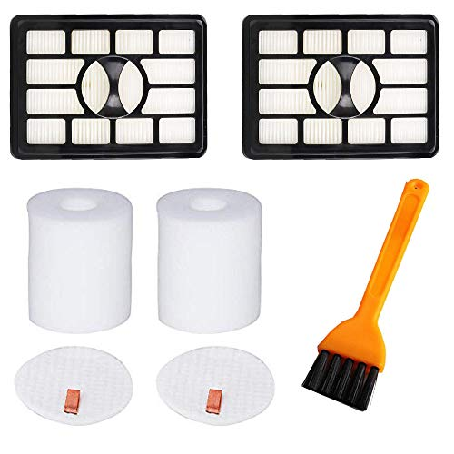 VideoPUP 2pcs Replacement Hepa Filter 2pcs Foam Filters Vacu
