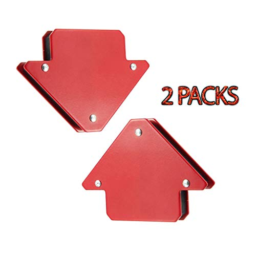 Fixed Corner Clamp - 2-Pack Magnets Welder Arrow Shape Strong Hand Soldering Tools, Arc Tig Mig Welding Magnet Holder 45° 90° 135° Fixed Angle Tool Corner Magnet Clamp with Grip Hole (25LB)