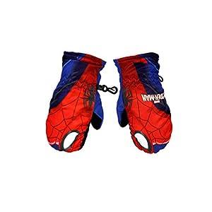 Moufles de ski enfant garçon Spider-man Bleu et Rouge de 3 à 6ans