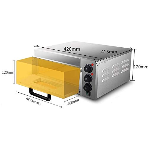 JIAWANSHUN Commercial Electric Pizza Oven With Timer for Making Bread Cake and Pizza 110V 2KW by JIAWANSHUN (Image #2)