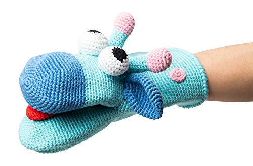 Concept Baby Gifts Giraffe Hand Puppet Gus Hand Knitted Organic Cotton Without Any Detachable Part Made in Turkey