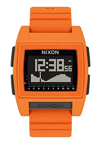 - NIXON Base Tide Pro A1216 - Orange - 104M Water Resistant Men's Digital Surf Watch (42mm Watch Face, 24mm Pu/Rubber/Silicone Band)