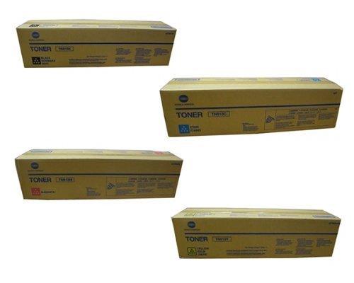Konica Minolta Bizhub C552 C652, TN-613K TN-613C TN-613M TN-613Y OEM Toner Cartridge Set (Black, Cyan, Magenta, Yellow)