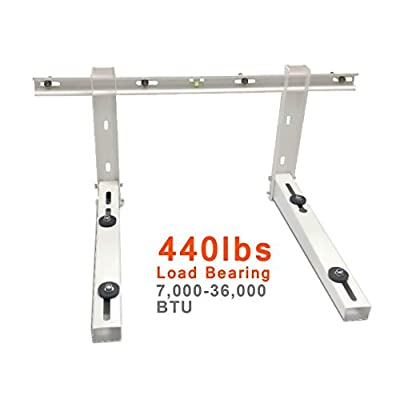 AC Parts Wall Mounting Bracket for Ductless Mini Split Air Conditioner Condensing Heat Pump Systems, Universal, 7000-36000 Btu Condenser, Support up to 440lbs