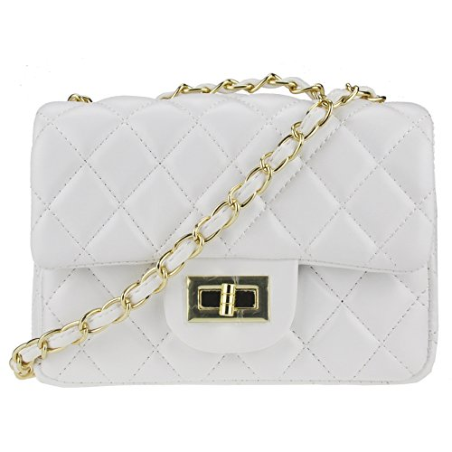 Side Designer Crossbody Rock Women Clutch Volcanic and Purse Handbags Chain White Bag Shoulder Girls with Quilted 1PYqtwdxtU