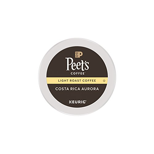 Peet's Coffee Costa Rica Aurora Light Roast K-Cup Packs, 16 (Round Roast)