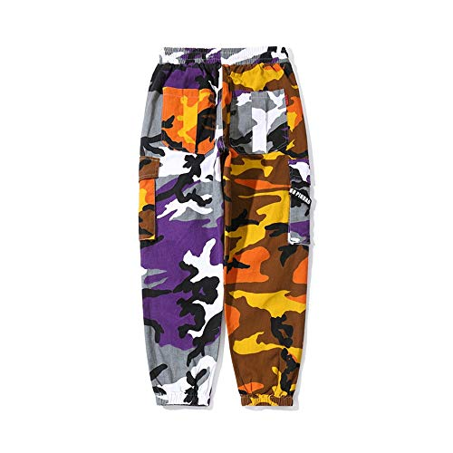 Nuovi Mimetici Hip tasca Pantaloni Go Yellow Easy Shopping hop Casual Uomo Multi Da TgEqnpWx