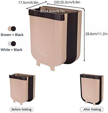 Car Box Wall Mounted Folding Waste Bin Kitchen Cabinet Door Hanging Trash Can UK