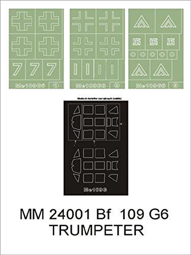 Montexマキシマスク1 : 24 me-109 g-6 for Trumpeter o2407 Spraying Stencil # mm24001   B01G3LX998