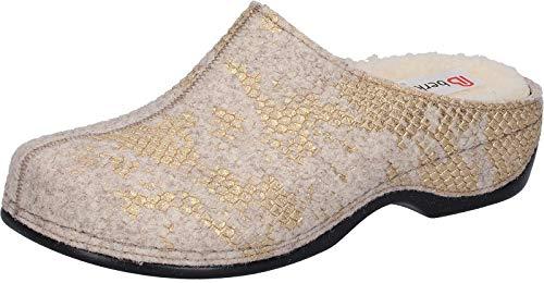Bianco Berkemann Donata gold Pantofole Donna weiß 657 1AtwAxfqr