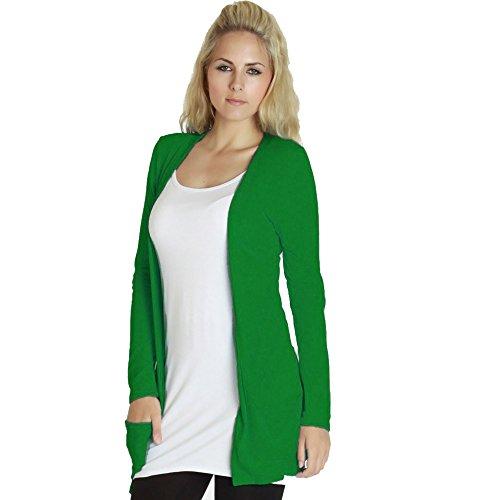 A Donna Lunghe Jade Maniche 58 Green Taglie 40 Da Cardigan TfqST1