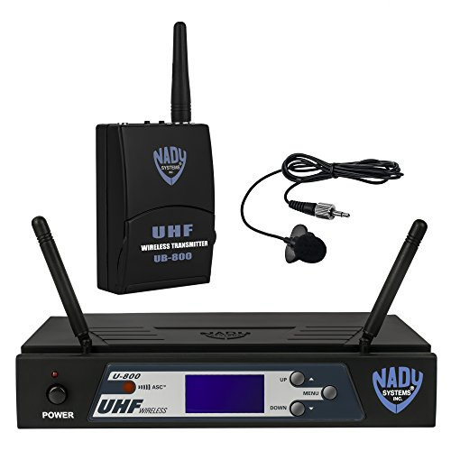 Nady U-800 LT UHF 800-Channel PLL Synthesized Wireless Lavalier System by Nady