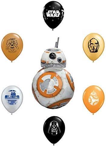 "5pc Star Wars 11/"" Character Print Latex Balloons 1 each of Chewbacca Darth V..."