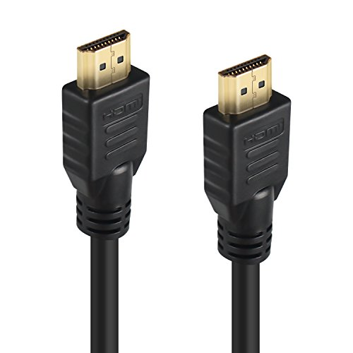 High Speed HDMI cable - TecBillion, 25 FT, 1-Pack, HDMI 2.0 Cable 18Gbps, Premium Copper HDMI Cord, Gold Plated Connector, Supports Ethernet, 3D, Blu-Ray player, Xbox PlayStation, PS3, PS4, PC, ()