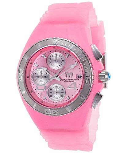 Technomarine Women's 'Cruise' Quartz Stainless Steel and Silicone Casual Watch, Color Pink (Model: TM-115359) (Technomarine Steel Stainless New Chronograph)