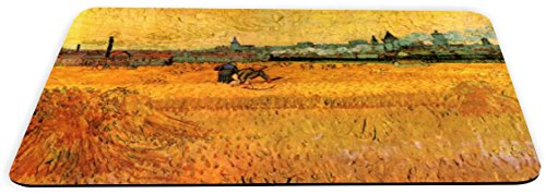 1349 Series (Rikki Knight Van Gogh Art Arles View from Wheat Fields Design Lightning Series Gaming Mouse Pad (MPSQ-RK-1349))