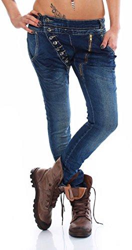 Blue Boyfriend Jeans Denim Donna Skutari aIqwd5q
