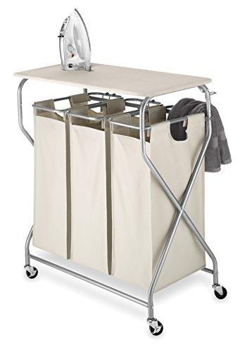 Whitmor Easy-Lift Triple Sorter with Folding Table