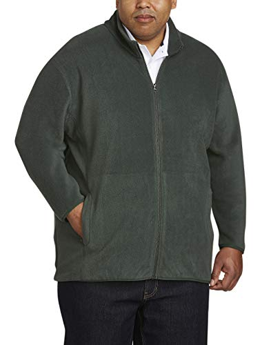 - Amazon Essentials Men's Big and Tall Full-Zip Polar Fleece Jacket fit by DXL, Forest Green, 2X