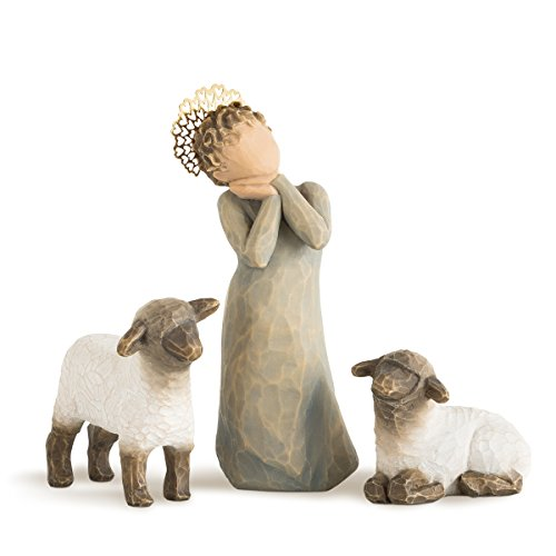 Willow Tree Little Shepherdess, 3-piece set of figures by Susan Lordi 26442