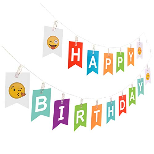 Light up Happy Birthday Banner | Glow in The Dark Birthday String Light Sign, LED Holiday Home Party Decoration ()
