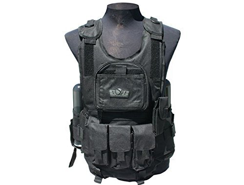 Paintball Black Deluxe - GXG Deluxe Black Paintball Tactical Vest