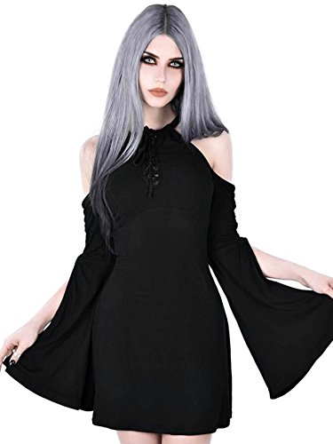 Schwarz Kleid Dress Aura Killstar Maiden IZCqTxdww