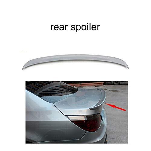 - BEESCLOVER ABS Unpainted Gray Rear Roof Spoiler Wings for BM-W 5 Series E60 520i 525i 530i Sedan 4-Door 2004-2010 FRP Rear Spoiler Dark Grey One Size