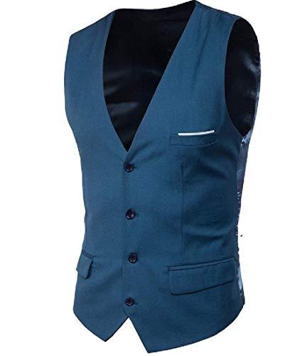 Mode Fit En À Ami Vêtements Mens Col Slim Vintage Poitrine Dunkelblau Gilet Costume Petit Mariage Veste De V Smokinges fxwn6nT7