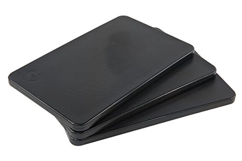 Plastic Bar Cutting Board for Restaurants, NSF and FDA Certified, 3 Pack, 10 x 6 Inch, Black ()