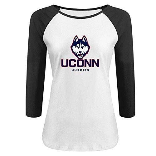 Lady's Uconn Huskiies New 3/4 Sleeve Raglan tee shirt