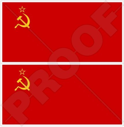 Soviet union flag ussr communist russia russian 3 75mm vinyl bumper stickers