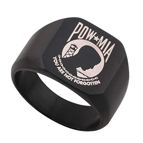 - Dacai Black Engraved POW/MIA Flag The National League of Families Mens Womens Ring