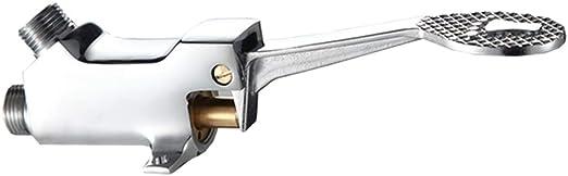 AXWT V/álvula mezcladora de Llave de Agua fr/ía y Caliente operada con el pie V/álvula de Control de la Temperatura del pie V/álvula de Tres v/ías Dos en uno Grifo de Agua Color : Foot Valve