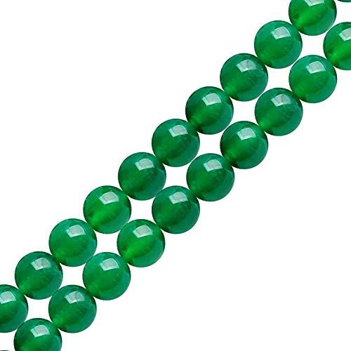 Aventurine Natural Stone Beads - Genuine Natural Stone Beads Green Aventurine Round Loose Gemstone 8mm 1 Strand 15.5