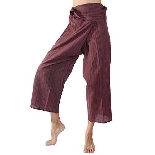 Rita & Risa Women's Boho Hippie Long Fisherman Pants Yoga Trousers (La Risa)