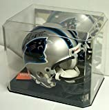 Mini Football Helmet Display Case with Black Base & Mirror Back